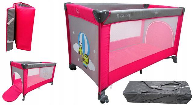 Łóżeczko Turystyczne Kojec Dla Dziecka R-Sport K1 Różowe