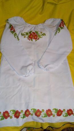 Заготовка платья сорочки габардин волокно под вышивку