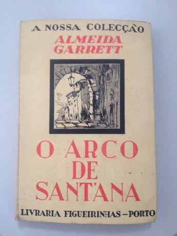 Livro de Almeida garret o arco de Santana