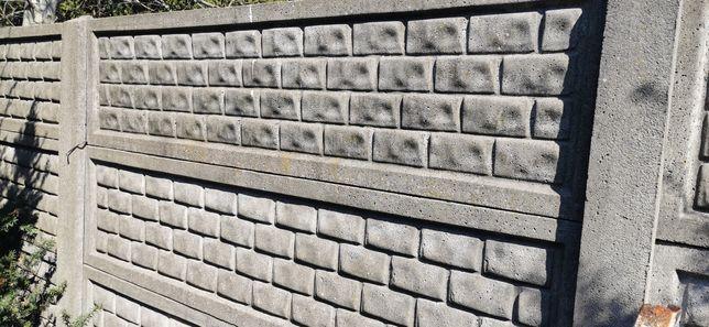 Płot betonowy, płyty betonowe