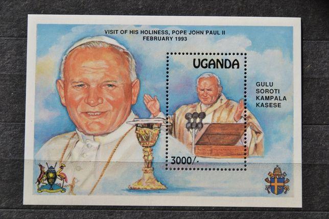 Znaczki. Uganda.. Papież Jan Paweł II **
