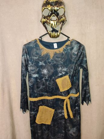 Костюм+ маска  11-12 лет 146-152 см монстр пугало тыква убийца