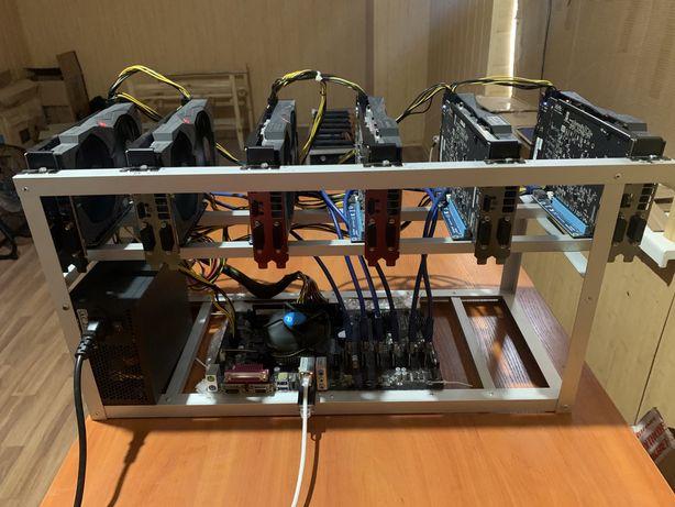 Майнинг ферма 6шт Asus Radeon rx 570 8gb