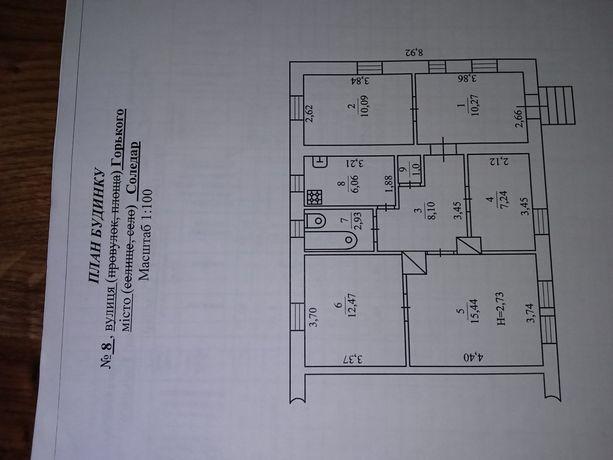 Срочно дом в Соледаре 80кв.м, сухой, теплый, газ, вода свет