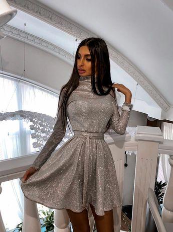 Платье трикотаж люрекс