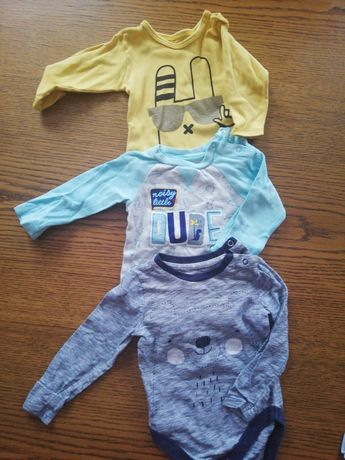 3x body chłopięce niemowlęce rozmiar 68