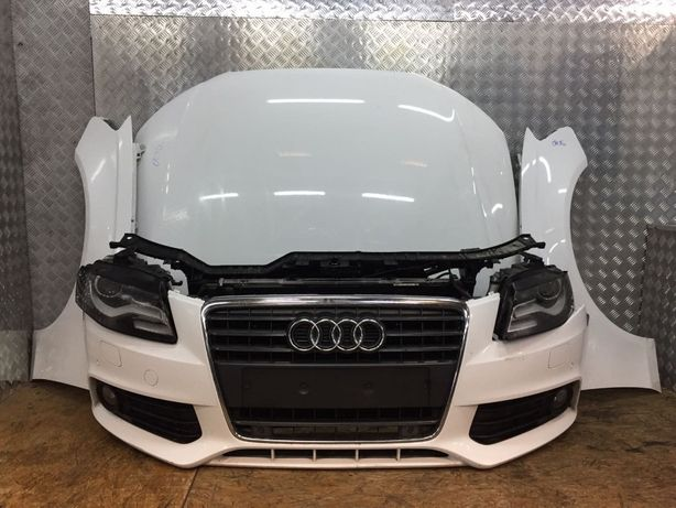 Разборка Audi A4 B8 капот крыло фара двери телевизор бампер фонари