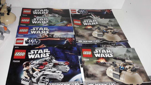Lego star wars 9 kompletnych zestawów figurki kg