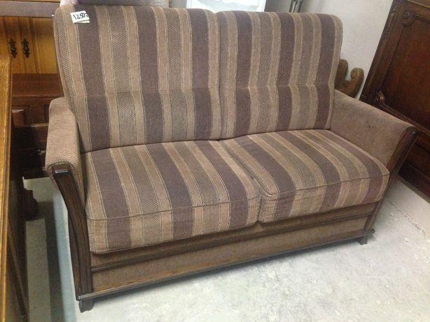 Piękna sofa 160cm dębowa masywna nieduża elegancka wygodna DOWÓZ