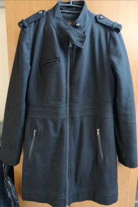 Czarny płaszczyk kurtka ze stójką zapinany na zamek House L