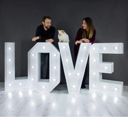 Napis LOVE literki NAJTANIEJ wesela imprezy sesje zdjęciowe
