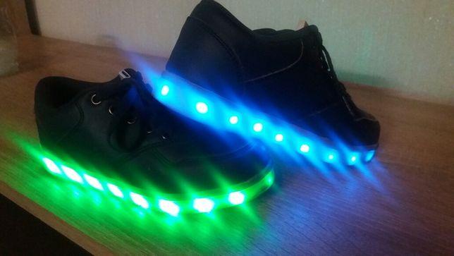 Buty ze światełkami LED