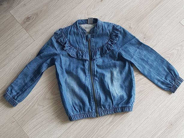 Bluza katana jeansowa next falbanki rozm 110