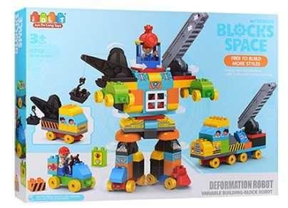 Детский Конструктор JDLT с крупными деталями Робот спецтехника 132дет
