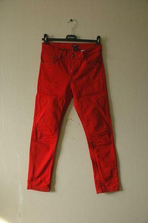 Велюровые, красные штаны Н&М