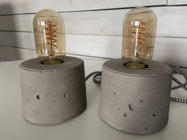 Lampka betonowa, lampa z betonu, lampka nocna