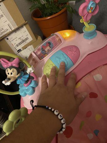 Andador da minnie e baloico para bebe