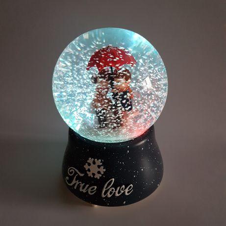 Снежный шар подарок ребенку взрослому новогодний декор