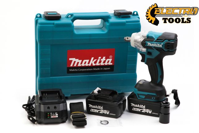 Гайковёрт аккумуляторный ударный безщеточный Makita DTW 285, 24v,5.0ah