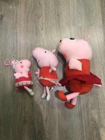 Мягкая игрушка свинка Пеппа, Peppa pig