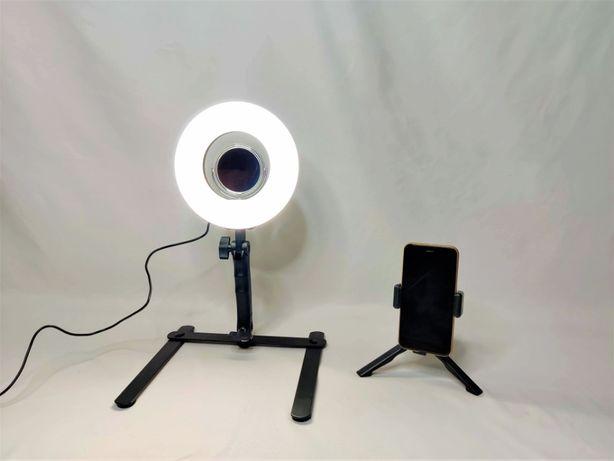 [NOVO] Ring Light Anel 20 cm - 24W com Espelho e Suporte de Telemóvel