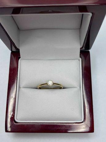 delikatny złoty pierścionek 1,12g rozmiar 12