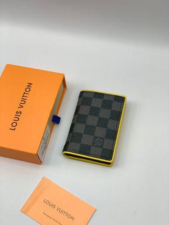 Мужской кожаный кошелек бумажник визитница LV Louis Vuitton k294