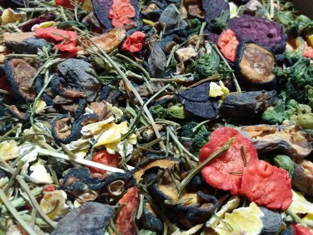 Warzywa suszone mix - świnki morskie i inne małe gryzonie