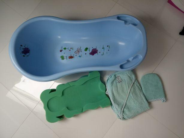 Zestaw do kąpieli wanienka ręcznik myjka wkład dla chłopca