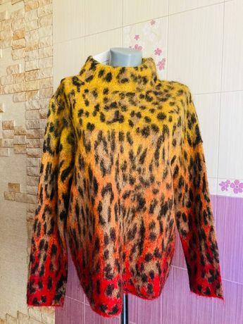 Новый дизайнерский мохеровый свитер теплый