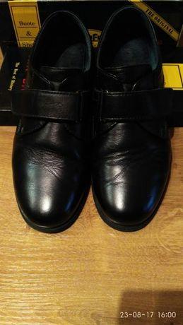 Туфли черные, кожа. Размер 37