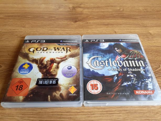 Gry ps3 Castlevania Lords of Shadow i God of war wstąpienie