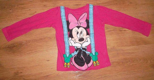 bluzka dziewczęca Myszka Minnie rozmiar 110 - 116