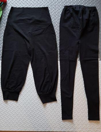 Spodnie dresowe legginsy hm mama ciążowe czarne