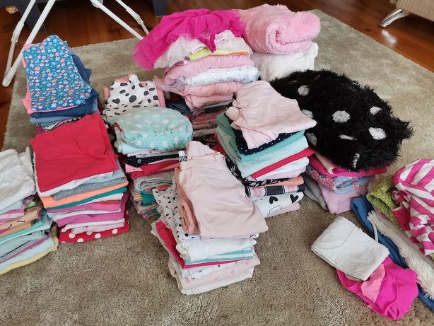 Ubranka dla Dziewczynki 80-86. 140sztuk