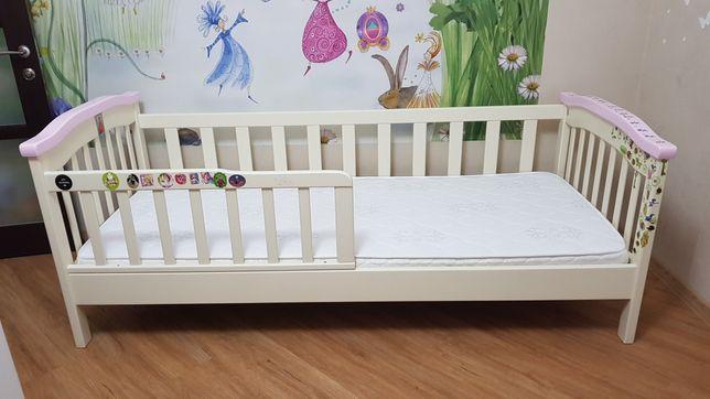 """Отличная односпальная кровать из натурального дерева+матрас тм """"Велам"""""""
