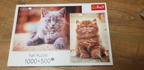 Puzzle trefl 1000+500 koty