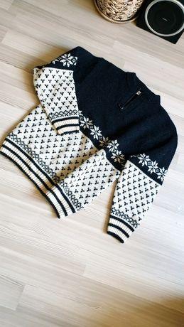 Мужской шотландский зимний добротный шерстяной свитер в узоры
