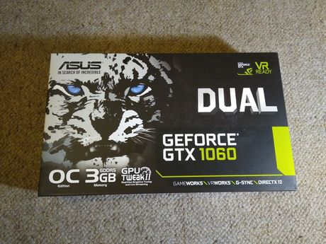 Pudełko Geforce GTX 1060 3GB Asus Nvidia directx12 oc edition vr ready