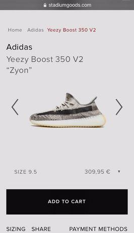 """Adidas Yeezy Boost 350 V2 """"Zyon"""" 100% Originais  Tamanho: 43 (1/3) (No"""