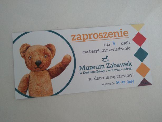 Bilet bilety 4 wstęp Muzeum Zabawek Kudowa Zdrój Krynica Zdrój