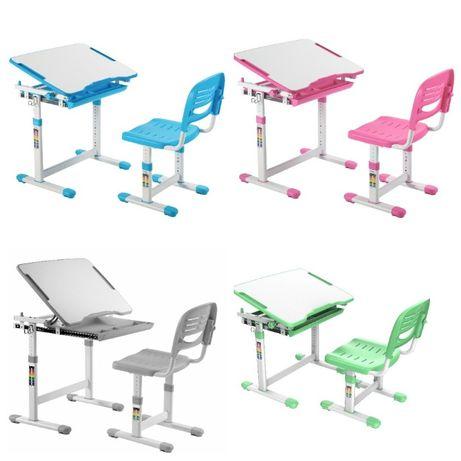 Бесп. доставка с наклоном детская парта+стул школьная дитяча комплект