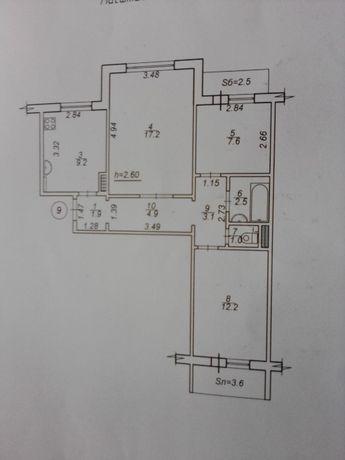 Обмен, 3-х комнатная квартира на Ковпака на частный дом