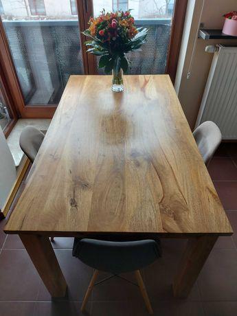 Drewniany stół do jadalni lub kuchni-stan prawie idealny! Od 27 marca.
