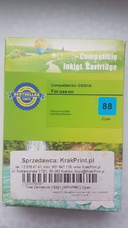 Ink Cartridge C9391A Cyan Blue Hight Capacity HP 88