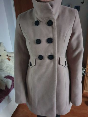 Płaszcz beżowy rozmiar 36 S