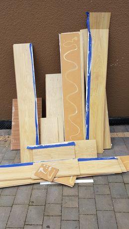 Drewno podłoga do robótek lub spalenia