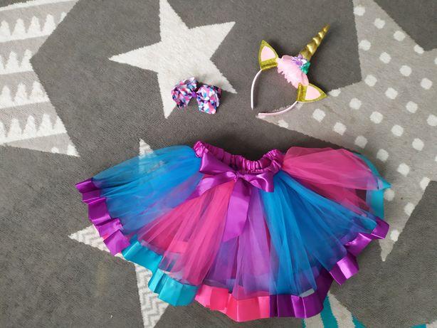 Nowy strój jednorożca unicorn karnawałowy przebranie bal dla dziewczyn