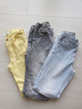 Spodnie jeansy SLIM ZARA 140 + GRATIS (opis)