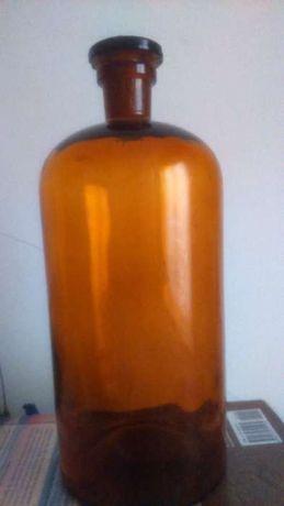 Antigo frasco âmbar